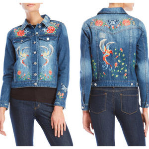 Philosophy Birds of Paradise Denim Jean Jacket XS